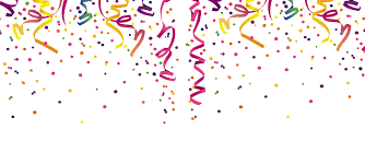 party confetti confetti header transparent png stickpng