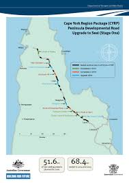 road map of york cape york region package department of transport and roads