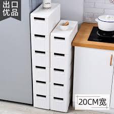 narrow storage cabinet for kitchen 20cm gap drawer storage cabinet kitchen ultra narrow side