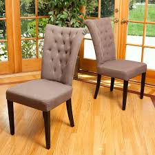 Dining Chair Fabric Amazon Com Juliette Mocha Fabric Dining Chairs Set Of 2