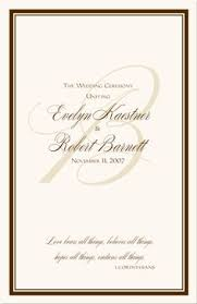 Wedding Program Sample Template Wedding Programs Wedding Ceremony Programs Wedding Program Ideas