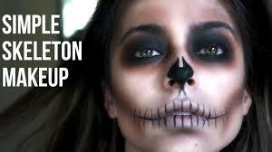 halloween makeup ideas skeleton simple skeleton makeup last minute halloween youtube