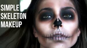 simple skeleton makeup last minute