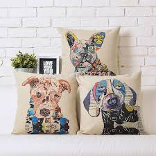 Decorative Dog Pillows Aliexpress Com Buy 45x45cm Retro Pillow Case Colourful Painting