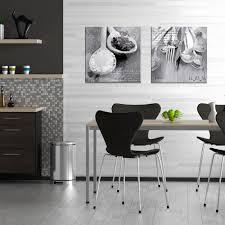 Wanddeko Wohnzimmer Modern Artissimo Glasbild 50x50cm Ag7980a Flatware Ii Küchenbild