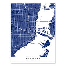 Florida City Map Miami Map Print Florida Colors U2013 Maps As Art