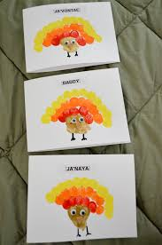 crafty thanksgiving make thumbprint turkey cards