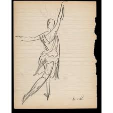 sketch by laura knight of a female dancer knight laura dame
