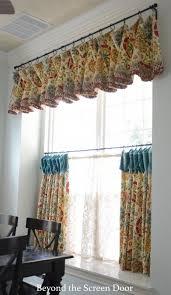 Curtains Valances Kitchen Charming Curtains Valances With Valance Window