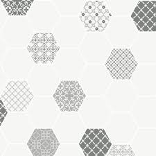 clearance holden wallpaper moroccan tile silver 89260