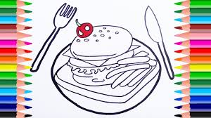 french fries coloring pages eliolera com