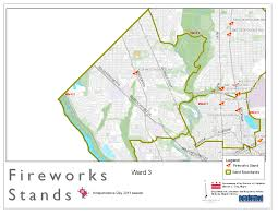 Dc Zoning Map Map Of Fireworks Stands Ward 3 2011 Dcra