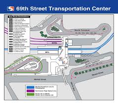 Map Of Philadelphia Airport Septa 69th Street Transportation Center Map
