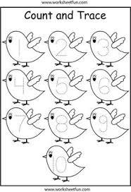dinosaur number tracing 1 10 kindergarten worksheets