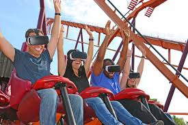 Theme Park Six Flags Six Flags Great America 2017 Raging Bull Gets Vr Treatment