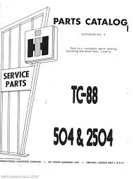 international harvester 504 2504 gas lp and dsl parts manual