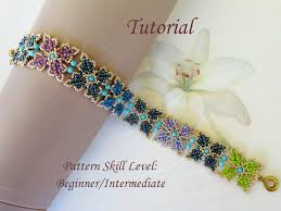 beaded bracelet pattern images Parva papilio beaded bracelet beading tutorials and patterns seed jpg