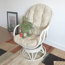 Swivel Rocker Chair Swivel Rocking Chair Garden Treasures Vinehaven 2count Brown