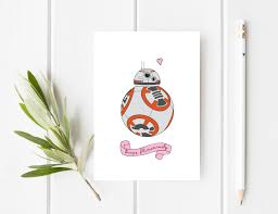 star wars birthday greetings bb 8 card star wars card funny boyfriend birthday card star