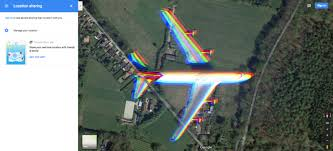image of maps accidentally a satellite image of an airplane mid flight