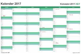 excel kalender 2017 kostenlos
