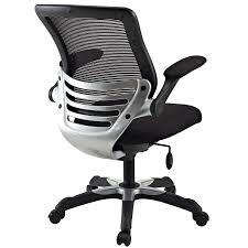 Fabric Dining Chair Low Back Armrests Amazon Com Modway Edge Mesh Back And Black Mesh Seat Office Chair