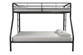 Metal Bunk Bed Frame Dhp Furniture Twin Over Full Bunk Bed Black
