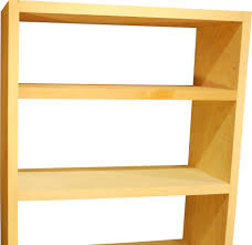 Natural Wood Bookcase Furniture Bookcase Non Warping Patented Honeycomb Panels And