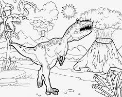 coloring pages volcano volcano eruption with dinosaur jurassic world and animal reptiles