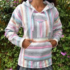 baja hoodie drug rug mexican threads jerga sweatshirt hippie black