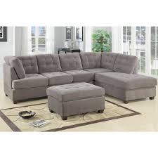 Bobkona Austin Piece Reversible Sectional Sofa Charcoal - Sofa austin 2