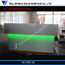 Mini Reception Desk China Luxury Curved Mini Front Desk Led Lighted Reception Desk