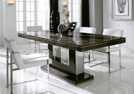 contemporary dining room lighting ideas brown varnished wooden