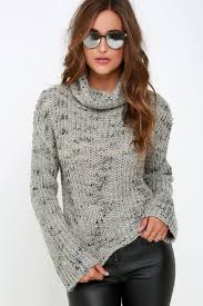 crop top sweater obey sweater black and grey sweater cropped sweater 79 00