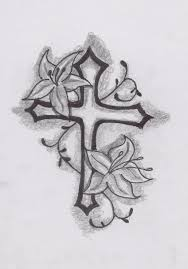 nice cross tattoo design