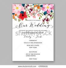 wedding invitation greetings poinsettia wedding invitation sle card beautiful stock vector