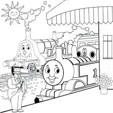 train friends coloring pages free thomas crib sheet