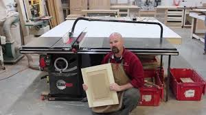 Make Raised Panel Cabinet Doors by A Raised Panel Made Solely On The Sawstop Table Saw Youtube