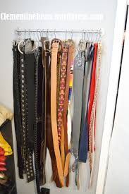 organizing belts using s hooks only 5 to create clementine bean