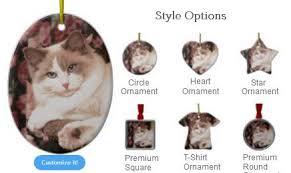 ragdoll cat ornaments dress the tree in ragdolls