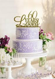 60 cake topper 60 years loved acrylic gold glitter wedding cake topper custom