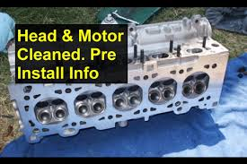 engine cylinder head removed cleaning and pre installation