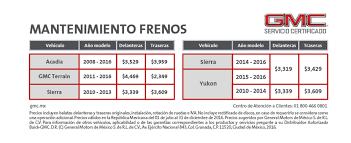 iva en mexico 2016 servicio gmc