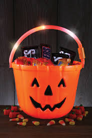 light up trick or treat safety bucket halloween