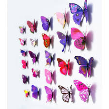 Butterfly 3d Wall Art by 3d Butterfly Wall Art Home Design
