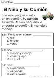 spanish reading reading comprehension passages reading passages
