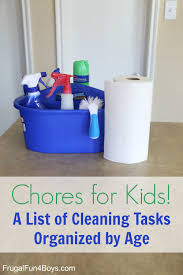 chores for kids a guide to cleaning with kids by room and age
