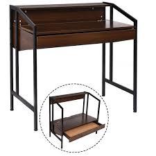 amazon com tangkula computer desk with drawer height adjustable