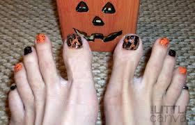 guest post a halloween pedi the little canvas
