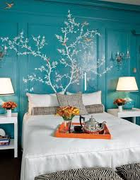 How To Use Orange And Blue Color Schemes For Modern Interior - Blue color bedroom ideas